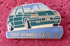 RARE BEAU PIN'S VOITURE RENAULT CLIO 16S TOUT RENNES COURT 92 EGF