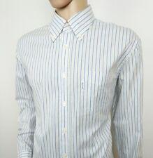 """Faconnable Club Mens Shirt Herringbone Stripe Oxford 46 - 18R Chest 48"""" RRP£155"""