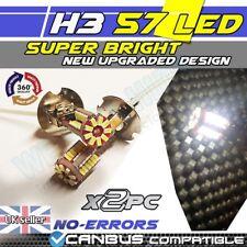 * x2 Car H3 3528 SMD 57 LED Xenon White Bulb Fog Beam Light Lamp 453 DRL  6000K