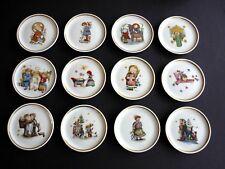 Vintage Berta Hummel Museum Set of 12 Miniature Collector Plates - W.Germany