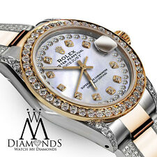 Women's 31mm Rolex Oyster Perpetual Datejust Custom set Diamonds Diamond Dial