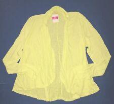 FRESH PRODUCE XL XXL Lemon Solaire YELLOW BREEZE Drape Cardigan Top NWT XL/XXL