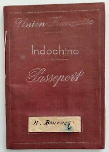 Union Française INDOCHINE SAÏGON PASSEPORT 1948 tous pays timbres & cachets