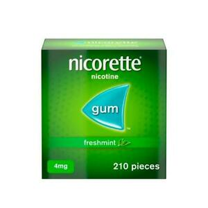 Nicorette Freshmint Chewing Gum 4mg 210 Pieces (Quit Smoking & Stop Smoking Aid)