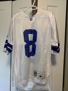 Troy Aikman Nfl Dallas Cowboys Stitched Authentic Style Football Jersey 8 Size M