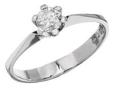 Solitär Ring Brillant 585er Weissgold