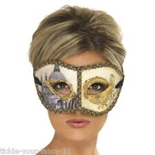 Women's Venetian Colombina Venice Mask Masquerade Fancy Dress Party Ball Hen Fun