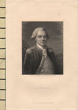 C1830 georgiano stampa ~ LA PEROUSE Portrait