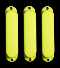 Guitar Hardware - No Hole - SINGLE COIL PICKUP COVERS - SET of 3 - YELLOW
