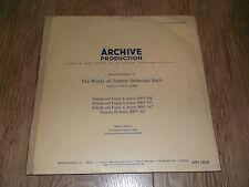 Oeuvres de JS Bach ~ Archive production HELMUT WALCHA ORGUE VINYL LP APM 14059