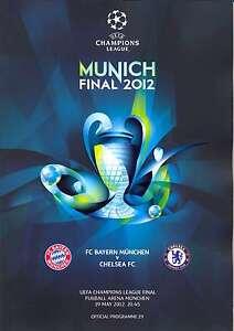 2012 UEFA CHAMPIONS LEAGUE FINAL CHELSEA v BAYERN MUNICH PROGRAMME