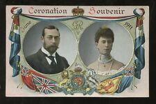 ROYALTY KING GEORGE 5th 1911 CORONATION SOUVENIR PPC GLOSSY