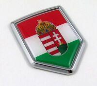Hungary Flag Car Hungarian Chrome Emblem Decal Sticker