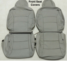 2009 2010 Subaru Forester 2.5x Ash Gray Katzkin Leather Seat Replacement Covers