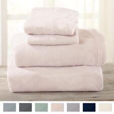 Super Soft Warm Extra Plush Polar Fleece king Sheet Set Deep Pocket Pink