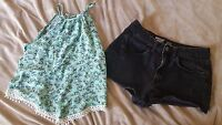 Womens Mossimo shorts and Divided tank