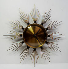"""mid century design Designer Wanduhr """"Atlanta electric"""" Sunburst Quartz Uhr 60er"""