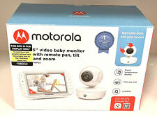 """Motorola 5"""" Video Baby Monitor with Remote Pan, Tilt & Zoom MBP50 Two-way talk"""