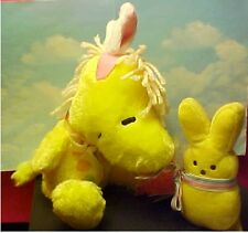 Peanuts Snoopy'S FRIEND Woodstock  EASTER Plush + YELLOW PEEP WITH CARROT CANDY