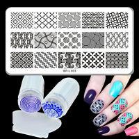 Nail Art Stamping Nagel Stempel Schablonen BP-L003 Muster & Jelly Klar Stempel