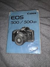 Original 1993 Canon EOS 500/500 QD Instruction Manual VGC