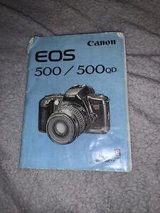 Original 1993 Canon EOS 500/500 QD Instruction Manual VGC