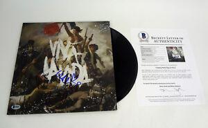 Coldplay Entire Band Signed Viva La Vida Vinyl Record Album Beckett COA