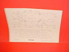1966 BUICK ELECTRA 225 WILDCAT CONVERTIBLE COUPE SEDAN FRAME DIMENSION CHART
