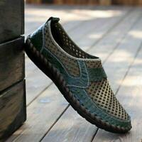 New Summer Mens Breathable Driving Slip on Loafers Shoes Mesh Casual Shoes