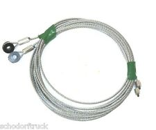 "Todco Truck & Trailer Overhead Door Cables, 130"" with 1/4"" eye, pair"