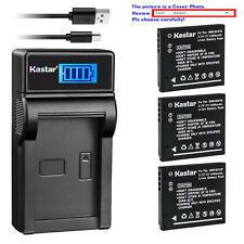 Kastar LCD Charger Battery for Panasonic DMW-BCK7 DE-A92 & Lumix DMC-FH4 Camera
