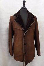Men's Brown Genuine Sheepskin Coat 42 JB391