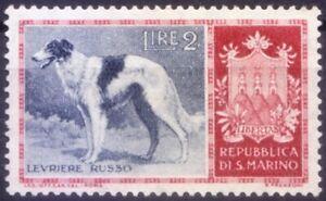 San Marino 1956 MNH no Gum, Borzoi Dog, Farm Animals