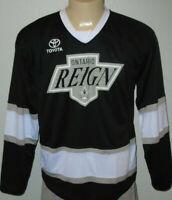 Ontario Reign Black Minor League Hockey Promo Jersey Men Size Large