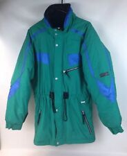 Vtg EDELWEISS Men's JACKET Coat Ski Snowboard WINTER Green/Blue Size M Good Cond