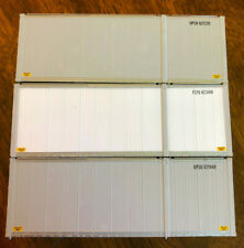 3 UPS 26.5' CONTAINERS 2 GREY 1 WHITE FSTU UPSU TRAILER BOX ATHEARN RARE HO OOP