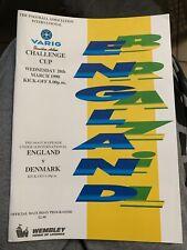 1990 England V Brazil Wembley Football/soccer Programme