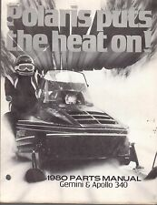1980 POLARIS SNOWMOBILE GEMINI & APOLLO PARTS MANUAL NICE P/N 9910650  (484)