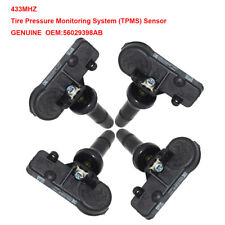 4x OEM TPMS Tire Pressure Sensor 56029398AB 433Mhz For CHRYSLER JEEP DODGE RAM