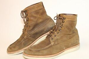 Nisolo Mens 12 Brown Suede Leather Lace Up Ankle Desert Chukka Boots