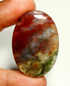 Beautiful Top Grade Quality 100/% Natural Moss Agate Oval Shape Cabochon Loose Gemstone For Making Jewelry 56.8 Ct 39X27X6 mm SZ-906