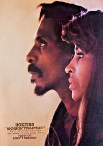 IKE AND TINA TURNER 1971 original POSTER ADVERT WORKIN TOGETHER