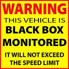 Advertencia de coche negro caja Vigilado Pegatina Calcomanía joven controladores Advertencia Divertido Amarillo