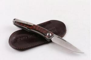 New CNC Full CR TITANIUM Handle M390 Blade Sebenza 21 Style Folding knife-04915