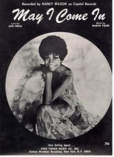 """NANCY WILSON """"MAY I COME IN"""" PIANO/VOCAL/GUITAR SHEET MUSIC-RARE-1968-NEW-MINT!!"""