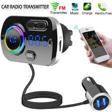 Handsfree Bluetooth 5.0 Car FM Transmitter MP3 Player 2 USB QC3.0 Charger Kit