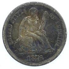 1876 CC USA Liberty Seated Dime Coin Lot C1