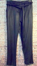 suede leather look black trousers 12 new per una