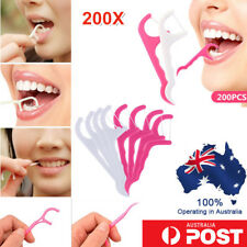200Pcs Dental Floss Tooth Oral Interdental Brush Teeth Stick Toothpick Flosser