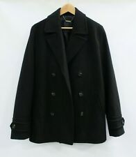 Men's Black Winter Coat Double Breasted Style by ASOS in Size Large